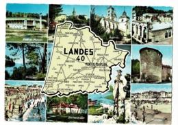 1689 - Landes - Contour Géographique Illustré - Multivues, 10 Vues - Pas Circulé - Landkaarten
