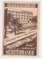 AB568 - ITALIE - CIVITAVECCHIA - Hotel Restaurant Mediterraneo - Civitavecchia