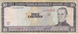 BILLETE DE EL SALVADOR DE 10 COLONES DEL AÑO 1996 DE CRISTOBAL COLON   (BANKNOTE) - El Salvador