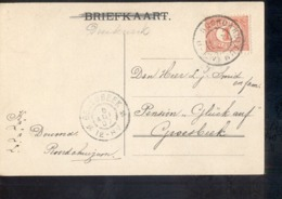 Roordahuizum Reduzum Grootrond - 1907 - Marcophilie