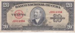 BILLETE DE CUBA DE 20 PESOS  DEL AÑO 1958   (BANKNOTE-BANK NOTE) ANTONIO MACEO - Cuba