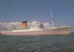 Postcard Edinburgh Castle Union Castle Passenger Ship Sailed Between UK & South Africa Reproduction  My Ref  B23850 - Steamers