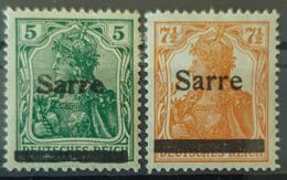 SARRE / SAARGEBIET 1920 - MLH - Mi 4, 5 - Nuevos