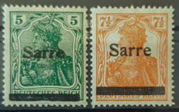 SARRE / SAARGEBIET 1920 - MLH - Mi 4, 5 - 1920-35 Società Delle Nazioni