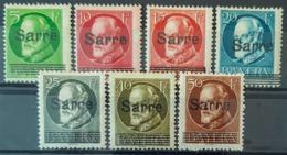 SARRE / SAARGEBIET 1920 - MLH - Mi 18, 19, 20, 21, 22, 24, 25 - Nuevos