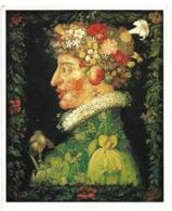 ARCHIBOLDO - LOT DE 2 CARTES - L'AUTOMNE - LE PRINTEMPS -Portraits Effectués Avec Fleurs, Fruits, Plantes- Légumes - Künstlerkarten