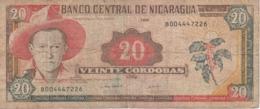 BILLETE DE NICARAGUA DE 20 CORDOBAS DEL AÑO 1995 (BANK NOTE) - Nicaragua
