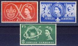 "1957-(MNH=**) Gran Bretagna S.3v.""Anniversario Scouts"" - 1952-.... (Elizabeth II)"