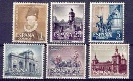 "1961-(MNH=**) Spagna S.6v.""4� Centenario Di Madrid Del Capitale,quadro E Vedute"" - 1931-Today: 2nd Rep - ... Juan Carlos I"