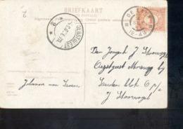De Lier Grootrond - Oegstgeest Langebalk 2 - 1907 - Marcophilie