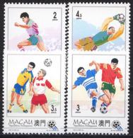 Football / Soccer / Fussball - WM 1994: Macau  4 W + Bl ** - World Cup