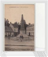 6756 FRD27 CPA/ETREPAGNY/PLACE DU MONUMENT/EPICERIE/MERCERIE BONNETERIE - Altri Comuni