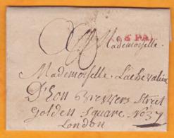 1786  Lettre Pliée Avec Correspondance De 2 Pages à La Chevalière D' EON De Paris, France  Vers Londres, Angleterre, GB - Poststempel (Briefe)