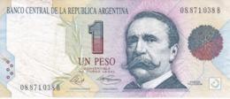 BILLETE DE ARGENTINA DE 1 PESO CONVERTIBLE DEL AÑO 1993 - CARLOS PELLEGRINI (BANKNOTE) - Argentina