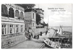 Sassnitz (insel Rugen) Strandhotel Und Promenade  1909 - Sassnitz
