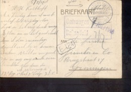 Legerplaats Bij Milligen Langebalk - 1916 Militair Verzonden - Marcophilie