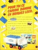 """PUB """" CAMION DANONE Et LEGO """"   1980 ( 1 A ) - Lego"""
