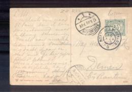 Rotterdam Venloo G Grootrond - Ravenstein Langebalk - 1909 - Marcophilie
