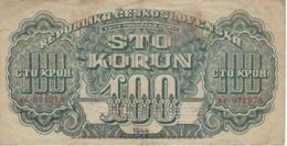 BILLETE DE CHECOSLOVAQUIA DE 100 KORUN DEL AÑO 1944 (BANKNOTE) SPECIMEN - Czechoslovakia