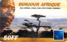 Carte Prépayée - BONJOUR AFRIQUE- 50 FF - Frankrijk