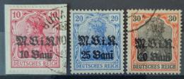 ROMANIA UNDER GERMAN OCCUPATION 1917 - MLH/canceled - Mi 4, 6, 7 - (6 Damaged) - Ocupación 1914 – 18