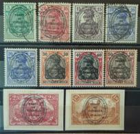 ALLENSTEIN 1920 - MLH/canceled - Mi 15, 16, 17, 19 (2x), 20, 21, 22, 26, 27 - Settori Di Coordinazione