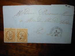 Lettre GC 3484 Saint Amand De Vendome Loir Et Cher Avec Correspondance - 1849-1876: Période Classique