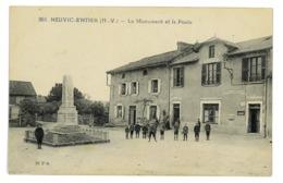 CPA 87 NEUVIC-ENTIER LE MONUMENT ET LA POSTE - Andere Gemeenten