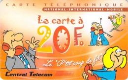 Carte Prépayée - CENTRAL TELECOM - 20 F - Frankrijk