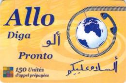 Carte Prépayée - ALLO DIGA PRONTO - 150 UNITES - Frankrijk