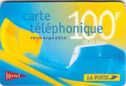 Carte Prépayée -  KERTEL - LA POSTE - 100 F - Frankrijk