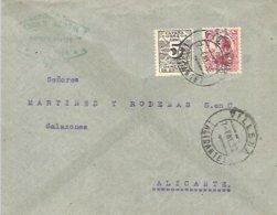 CARTA 1932  VILLENA  ALICANTE ALICANTE - 1931-Hoy: 2ª República - ... Juan Carlos I