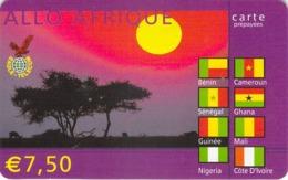 Carte Prépayée -  ALLO AFRIQUE -  7.5 € - Frankrijk