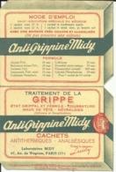 Calendrier De Poche - Antigrippine Midy - 1948 - Calendriers