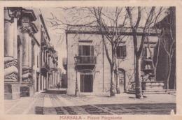 Cartolina Marsala ( Trapani ) Piazza Purgatorio - Marsala