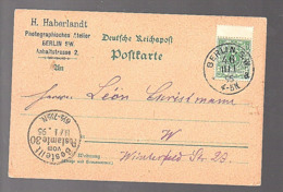 1895 Postambte 30 Photographiisch Atelier Berlin Anhaltstrasse 2 > Winterfeld (1042) - Deutschland