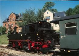 Schönheide (Erzgebirge) Museumsbahn: Sächs. IV K (Bj. 1912), Bahnhof   1987 - Schoenheide