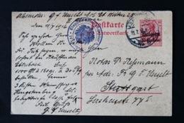 40845) DEUTSCHE BESETZUNG Belgien Ganzsache P 5 F Gestempelt Aus 1915/16 - Occupation 1914-18