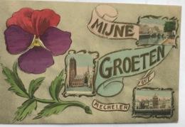 (1370) Mijne Groeten Uit Mechelen - Een Viooltje - 1912 - Mechelen