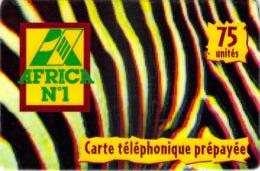 Carte Prépayée -  AFRICA  T N° 1 -   -  75 UNITES - Frankrijk
