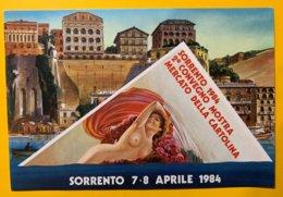 8888 -  Sorrento 1984 2e Convegno Mostra Maercato Della Cartolina - Bourses & Salons De Collections