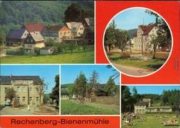 Rechenberg Bienenmühle Alte Straße, Dorfstraße Kindergarten, Café Waldbad 1985 - Rechenberg-Bienenmühle