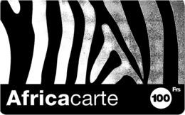 Carte Prépayée -  AFRICA CARTE  -   -  100 F - Andere Voorafbetaalde Kaarten