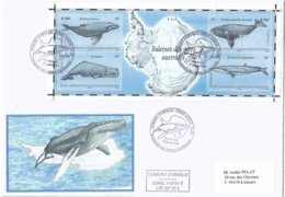 YT BF25 - Baleines - Cachalot - Rorqual - FDC - Terres Australes Et Antarctiques Françaises (TAAF)