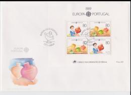 Portugal 1989 FDC Europa CEPT Souvenir Sheet  (LAR8-45) - Europa-CEPT