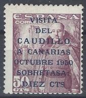 España 1088 ** Visita Del Caudillo A Canarias. 1951. Descentrado - 1931-Heute: 2. Rep. - ... Juan Carlos I