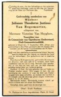 Dp. Van Regemorter Julianus. Echtg. Van Huyghem Vistorine. ° Gheel 1874 † Gheel 1934 - Religion & Esotérisme
