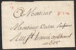 LAC - Cachet 9e LvéS LEVÉES ET DISTRIBUTION - Cachet Sec 30 ( Sans Date Visible ) - Marcophilie (Lettres)
