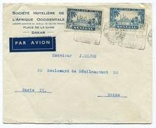 !!! LETTRE PAR AVION POUR PARIS OBLIT DAGUIN DU SENEGAL - Sénégal (1887-1944)