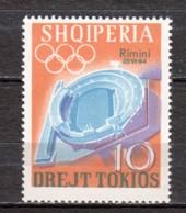 Albania 1964 Mi 838 MNH SUMMER OLYMPICS TOKYO - Albania